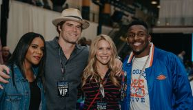 Greg Olsen, Thomas Davis and wives Rookie USA Fashion Show